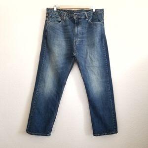 Levi's 505 Regular Fit Dark Wash Jeans 40x30
